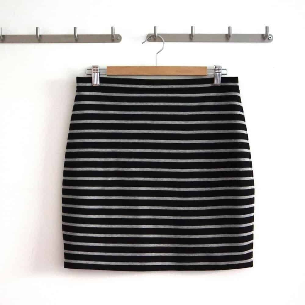Photo of Nähen Sie einen einfachen Jerseyrock. Nähanleitung und Muster