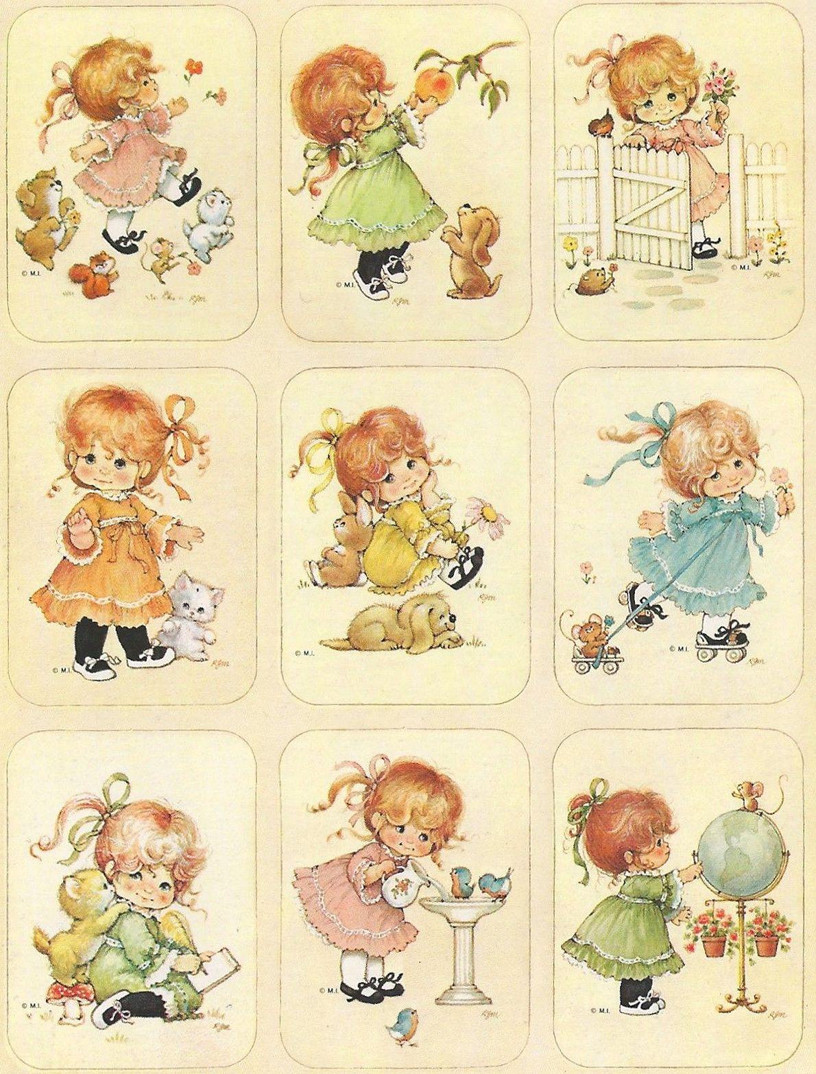 ruth morehead children with pets stickers  desenho de