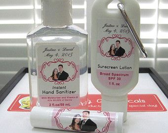 Destination Wedding Favor Package 5 Ea Lip Balm Hand Sanitizer