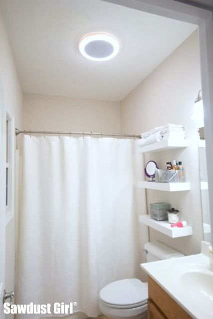 bathroom fan bathroom vent light