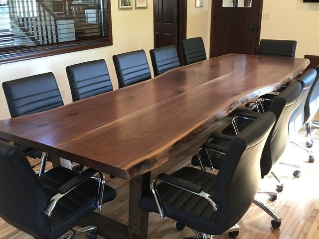 live edge table live edge conference table wood conference table rh pinterest com