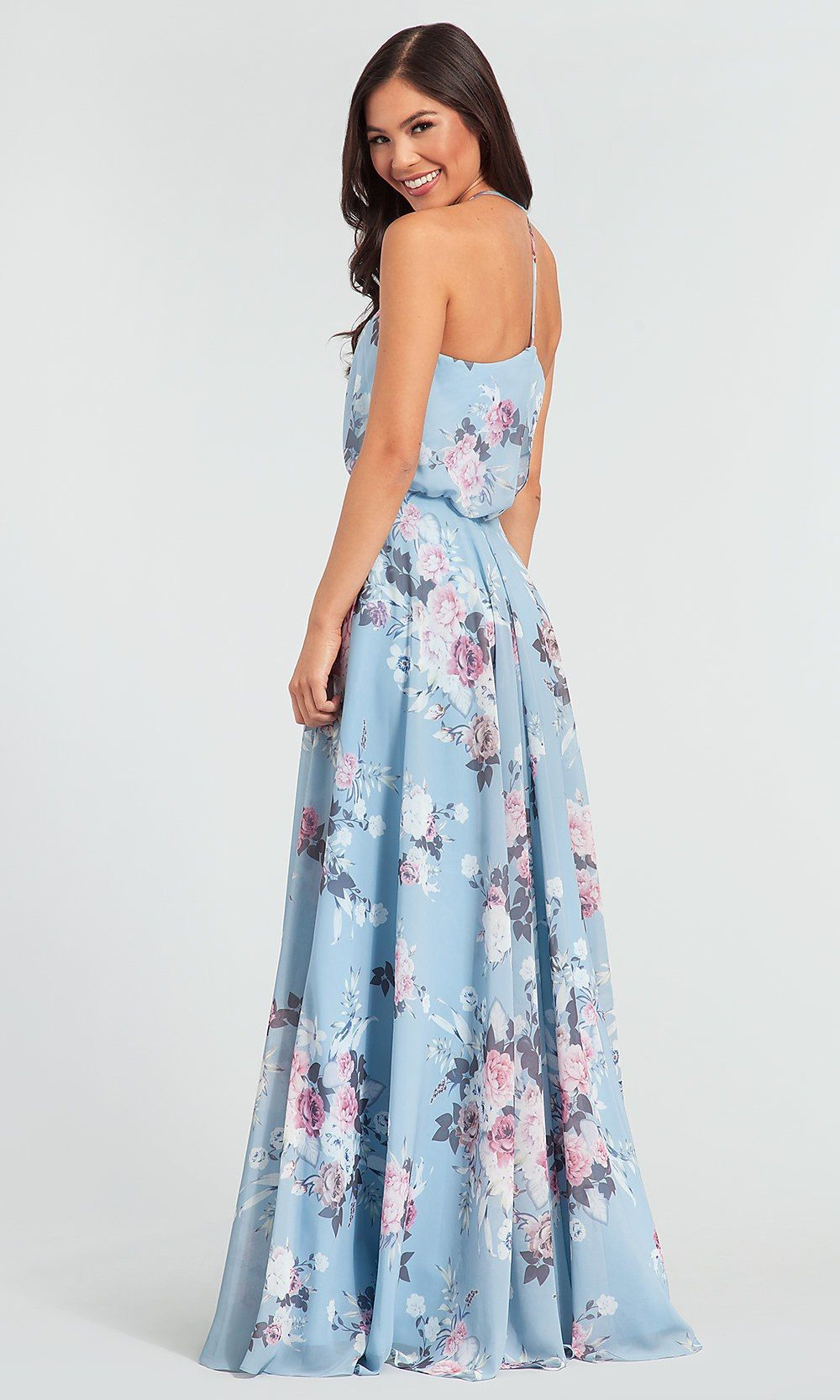 ac121d29f5 Floral-Print Chiffon Bridesmaid Dress by Kleinfeld in 2019