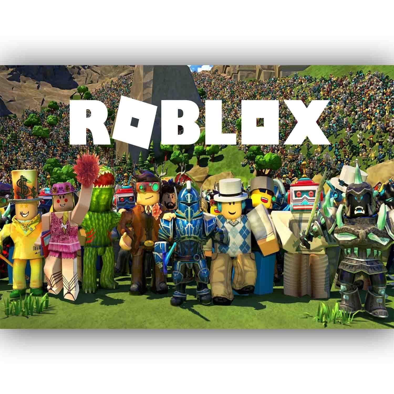 roblox logo poster print all sizes modern art deco XXL