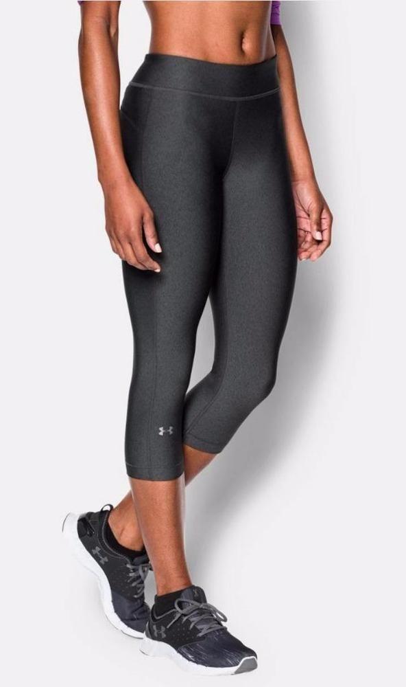 1a1ca805 Under Armour Womens HeatGear Compression Capri XL Carbon Gray Pants ...