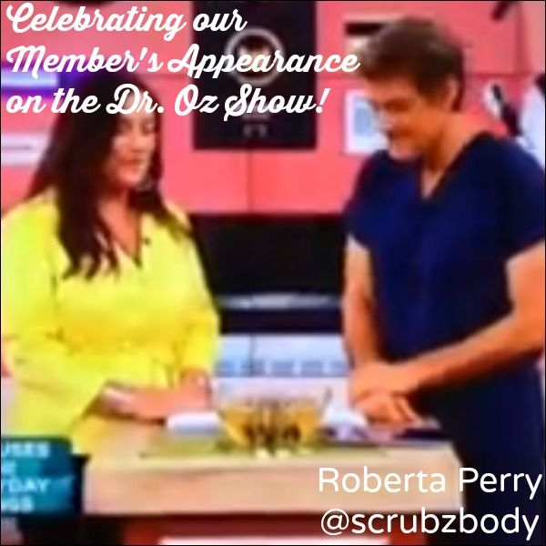 Our member is featured on the Dr. Oz. show after submitted in a HARO pitch. Congratulations Roberta Perry of Scrubz Body in Bethpage, NY!