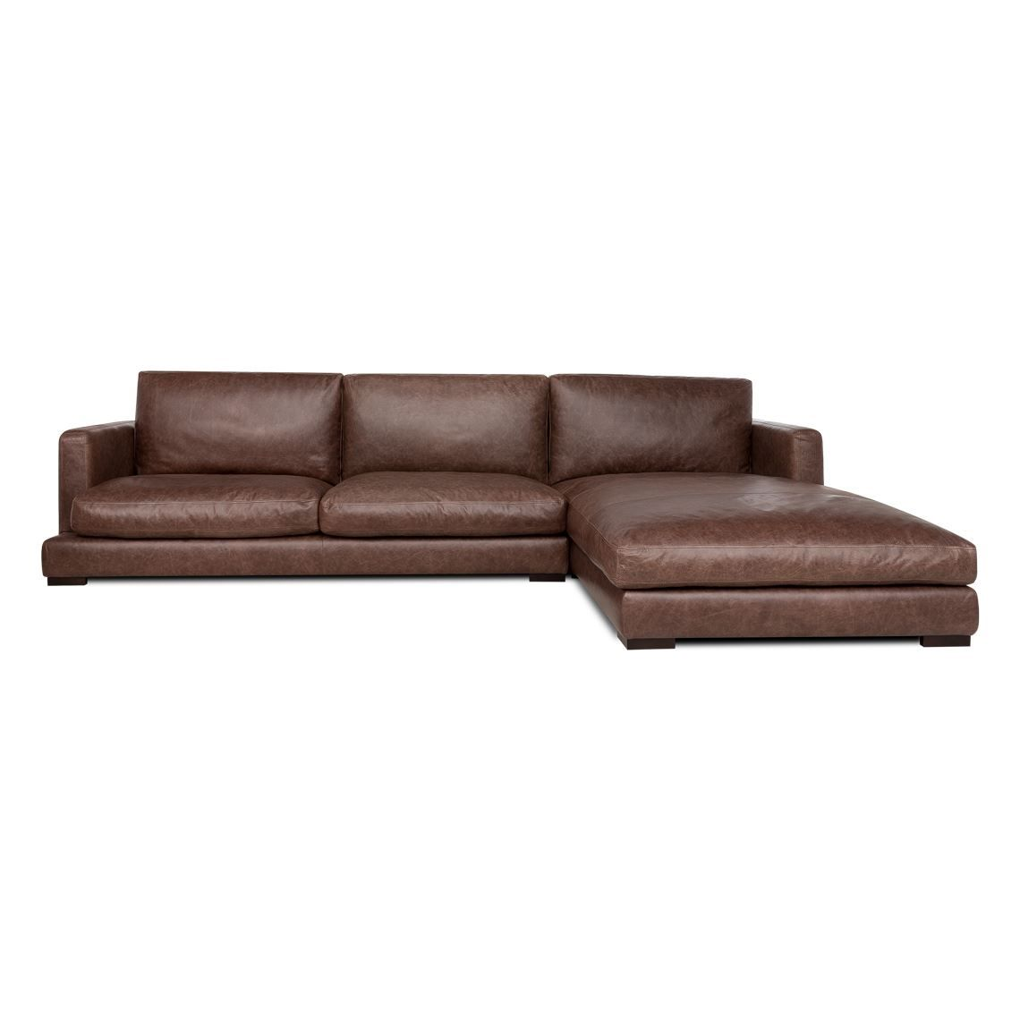 HAMILTON 3 Seat Leather Modular Sofa With Right Chaise in 2019 ...