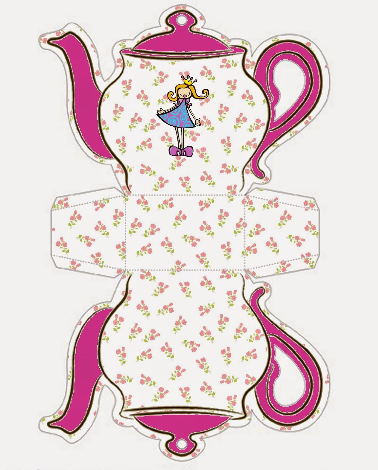 Free Teapot Printables - Clipart Library •