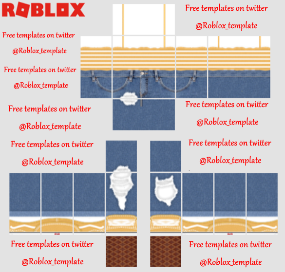 Roblox Templates Roblox Template Twitter Roupas De