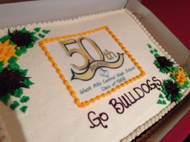 50th High School Reunion Cake High School Reunion School