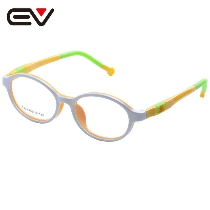 488d6f1c66 Fashion Kids Children Toddler TR90 Eyeglasses Frames Boys Girls Silicone  Nose Spring hinge Legs Optical Glasses Frames EV1386