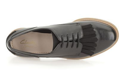 29c78c3cecf Womens Casual Shoes - Griffin Mabel in Black Leather from Clarks shoes