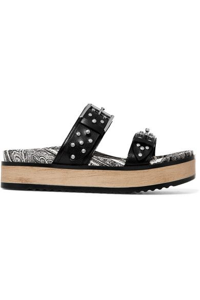 cdfc18506eb Studded Leather Platform Slides