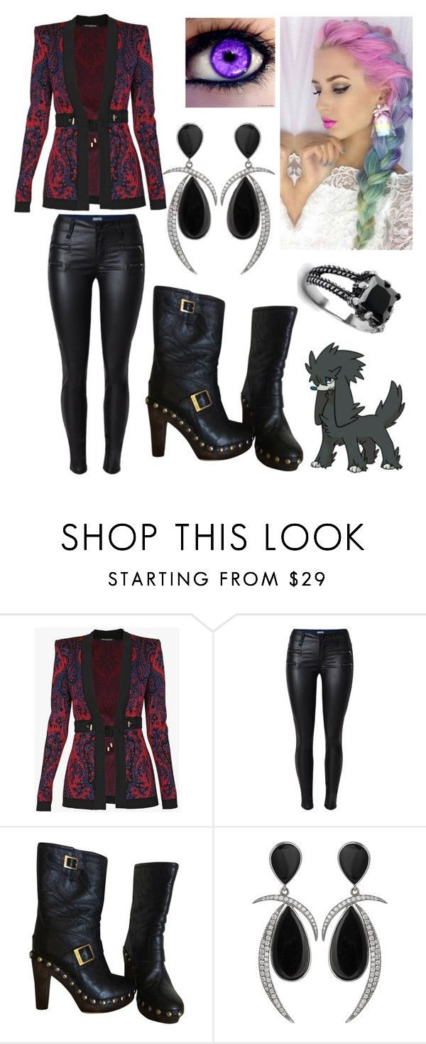 """""""outfit for oc"""" by queen-taylor-brie ❤ liked on Polyvore featuring Balmain, Jimmy Choo, Jorge Adeler and West Coast Jewelry"""