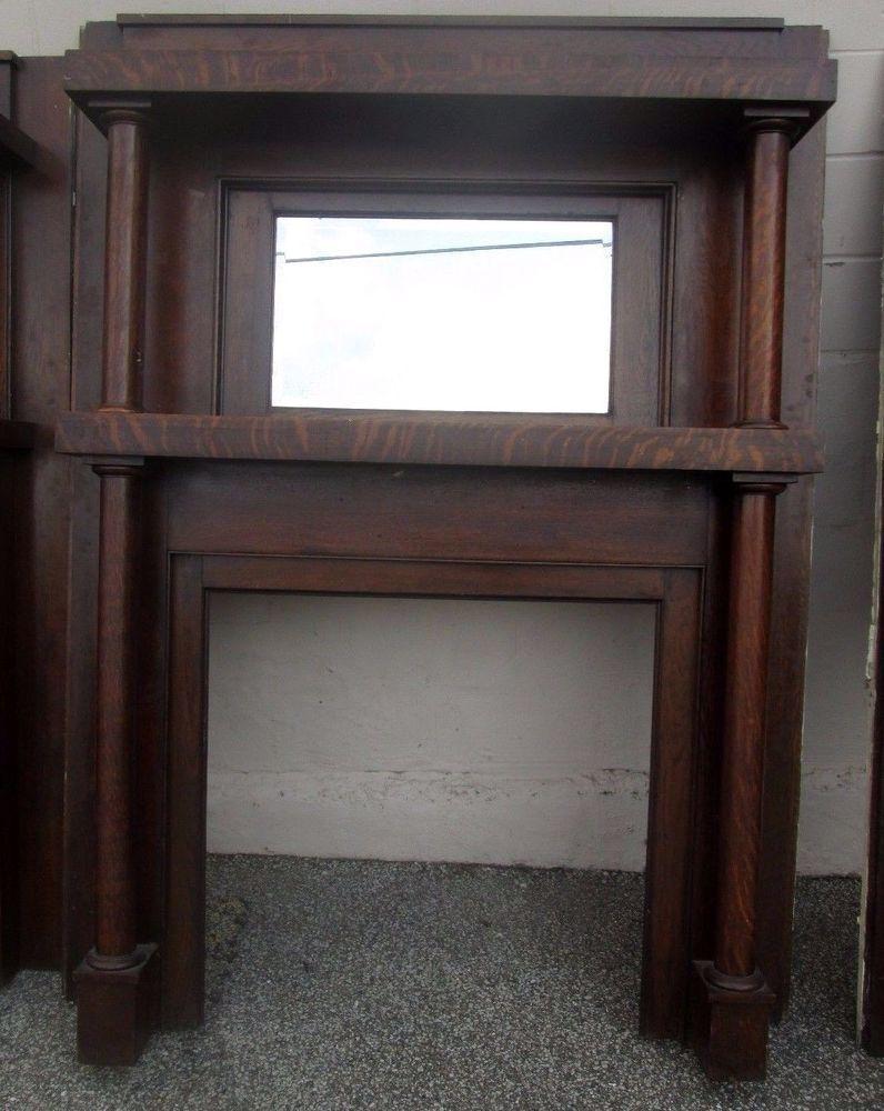 bargain sale antique quarter sawn oak full mantel w beveled mirror rh pinterest com