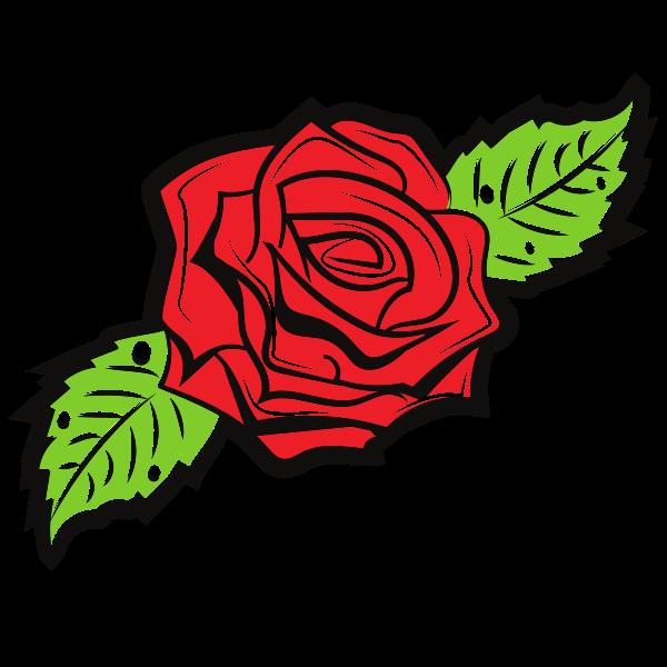 Rose Flower Silhouette 1576504932 Flower Vector Art Rose Flower Colors Flower Silhouette
