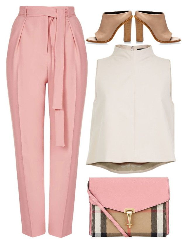 """""""street style"""" by ecem1 ❤ liked on Polyvore featuring Topshop, TIBI, Burberry, women's clothing, women's fashion, women, female, woman, misses and juniors"""