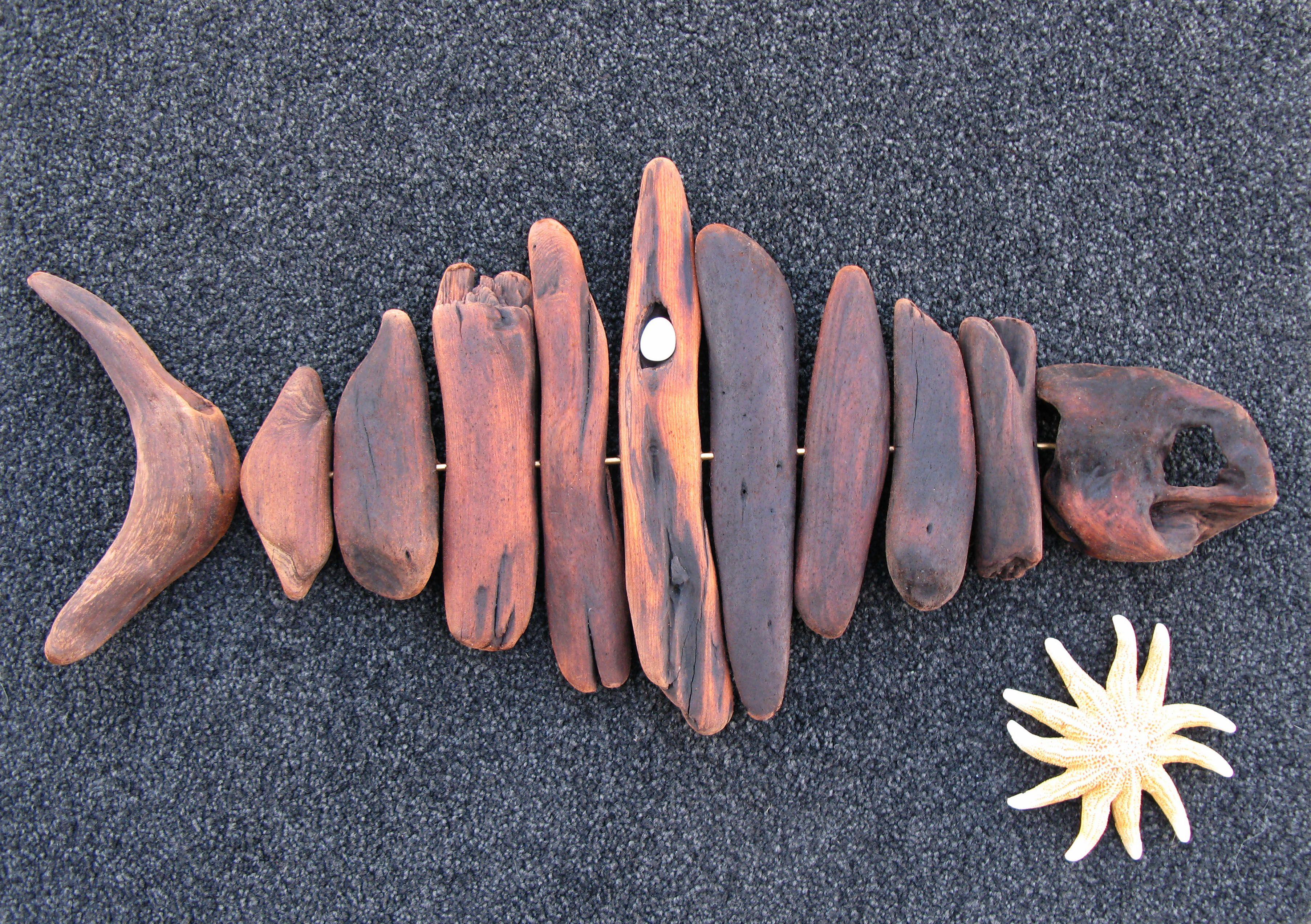 Driftwood Fish..Big Eye Tuna..Natural Object Art..Waiitiboy Punakaiki