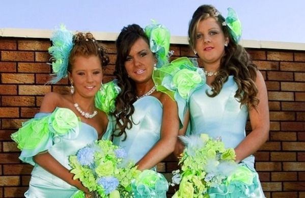 Sky blue and neon green funny stuff pinterest worst worst bridesmaid dresses ever junglespirit Gallery