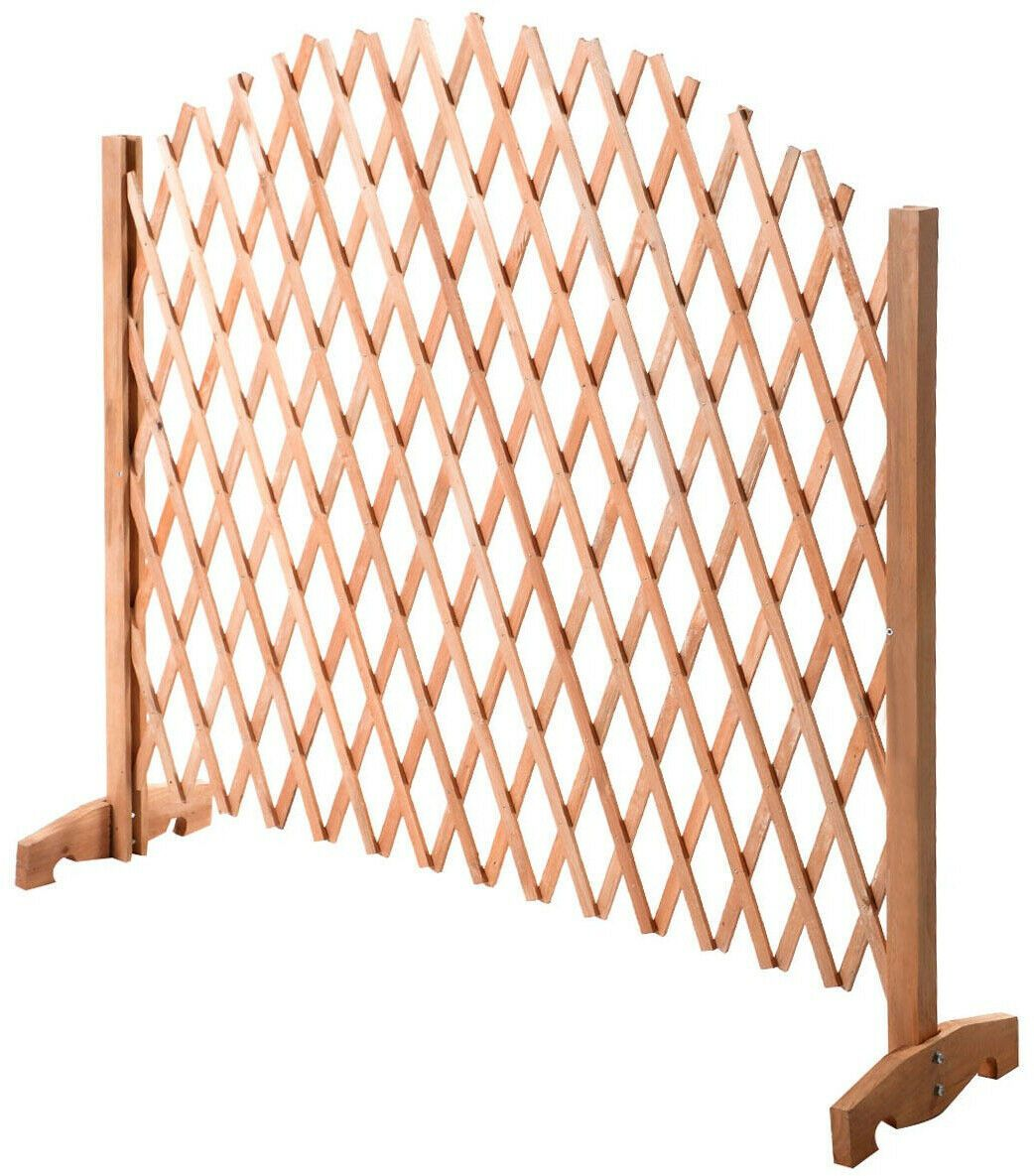 Expanding portable fence wooden safety gate 6933315582883
