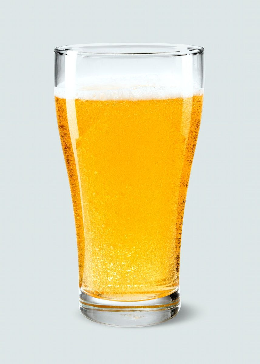 Download Premium Illustration Of Beer Pint Product Mockup On Gray Beer Gray Background Mockup