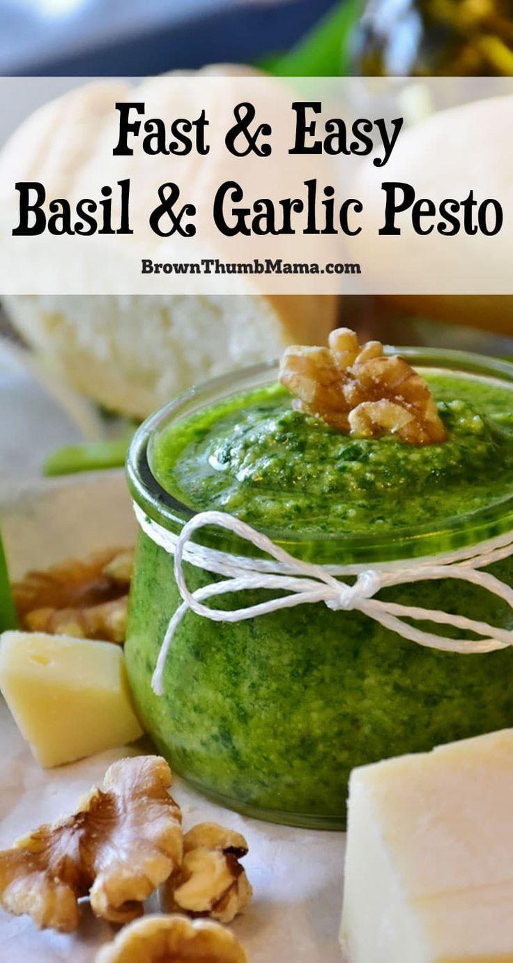 Easy Basil & Garlic Pesto Recipe in 2020 Pesto recipe