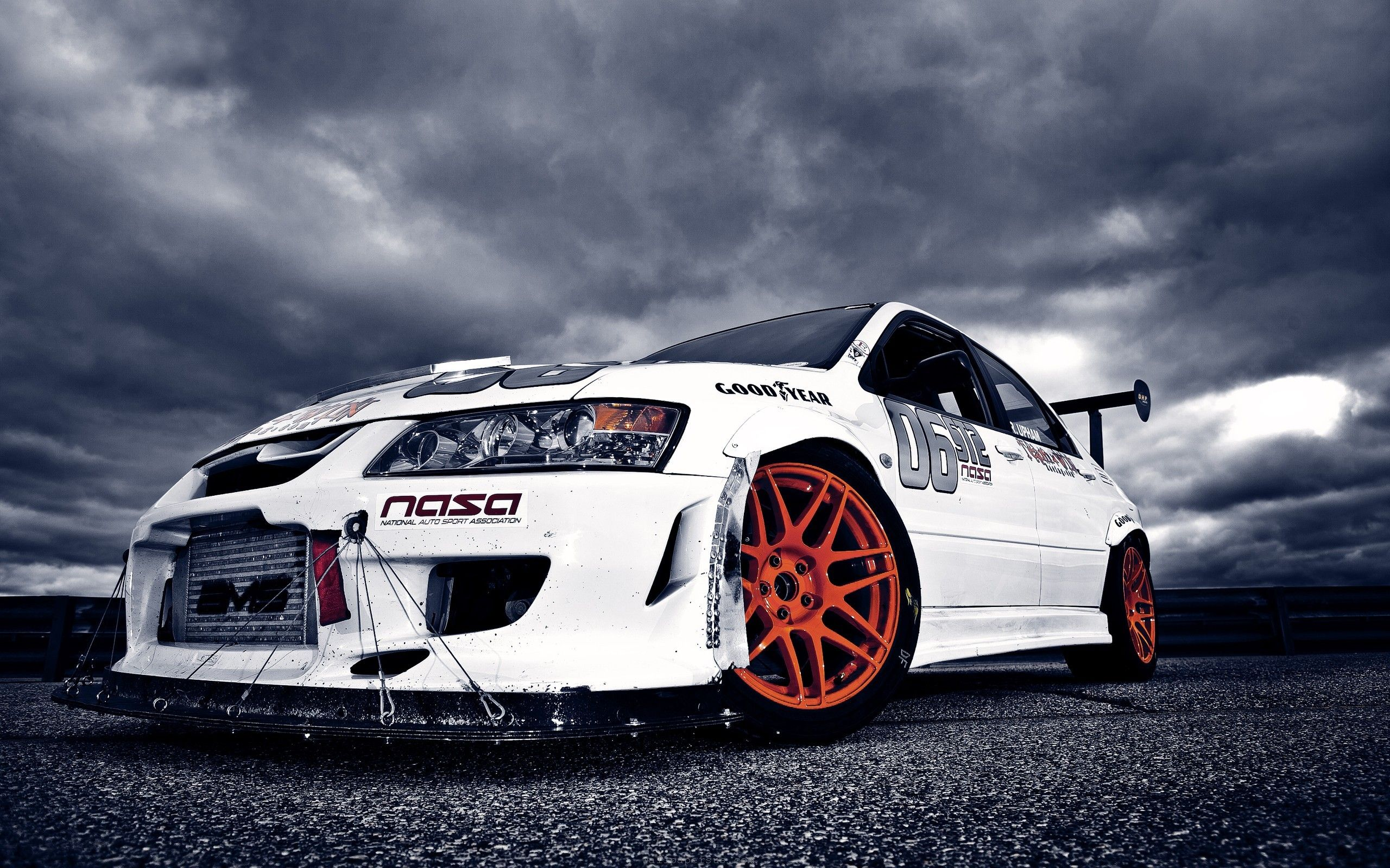 White Modified Mitsubishi Lancer Hd Wallpaper Supercar Poster