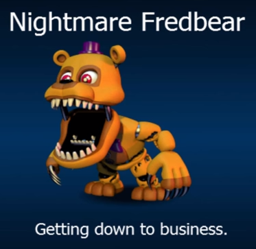 Fnaf World Nightmare Fredbear Fnaf Fnaf Characters Five Nights At Freddy S