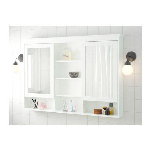 HEMNES Mirror Cabinet With 2 Doors, White In 2019
