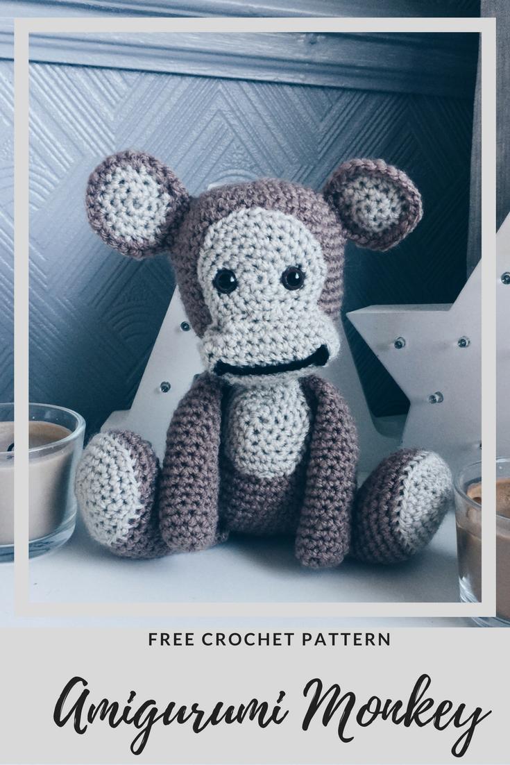 Crochet Amigurumi Monkey, free crochet pattern, PDF crochet pattern ...