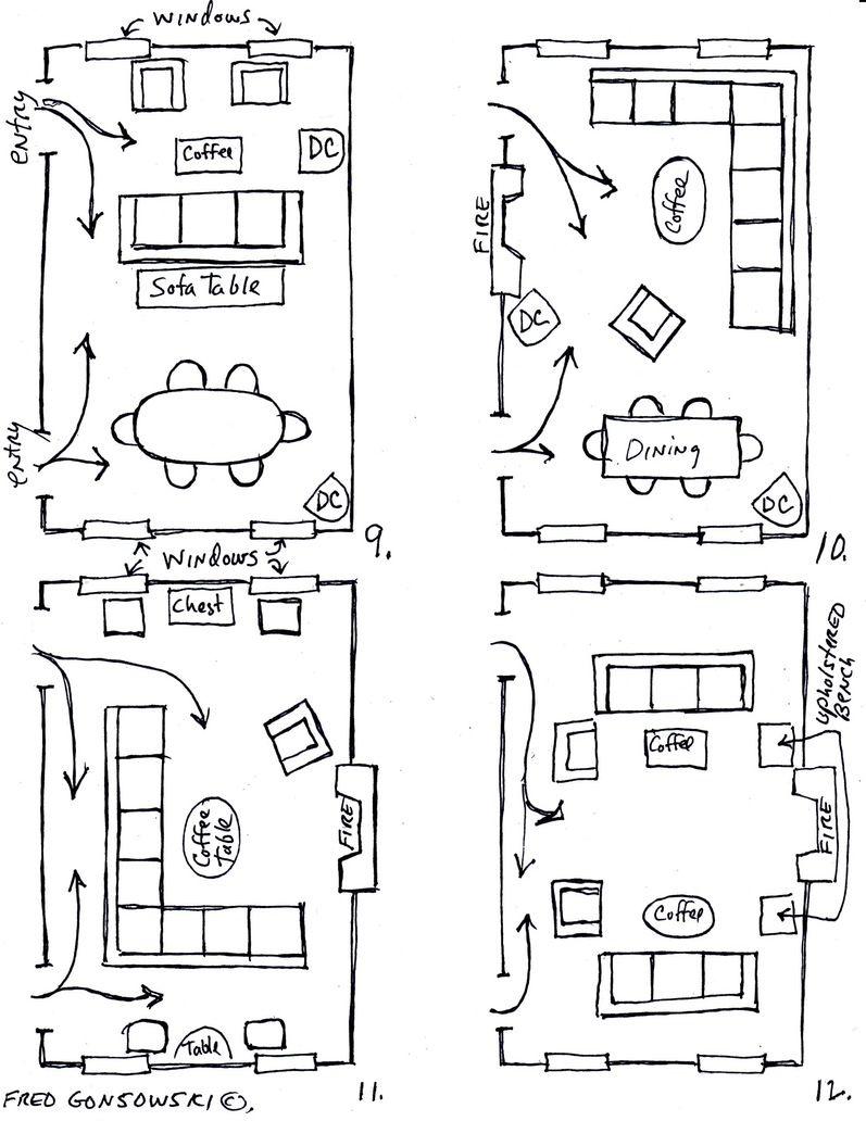 Arranging Furniture Twelve Different Ways In The Same Room Fred ...