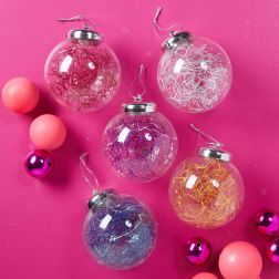 LED ball ornaments! Fun, bright holiday decoration. Comes in assorted colors. Contact MarketShare for purchases.