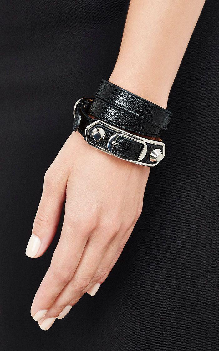 Womens Metallic Edge Double Tour Wrap Bracelet Balenciaga m2751w2k