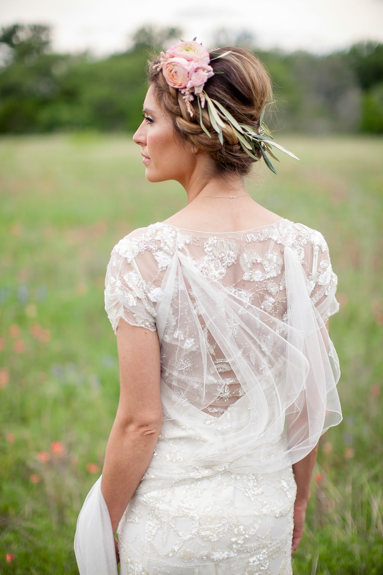 Ethereal flower crown headpiece by Stems Floral Design https://www.theknot.com/marketplace/stems-floral-design-austin-tx-340227 | Winfield Inn – Kyle, Texas https://www.theknot.com/marketplace/the-winfield-inn-kyle-tx-336012 | The Nichols Photography https://www.theknot.com/marketplace/the-nichols-austin-tx-324559