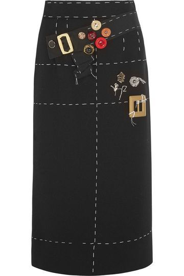 eef41e9fc Embellished silk-blend crepe skirt | DOLCE & GABBANA | Sale up to 70% off |  THE OUTNET