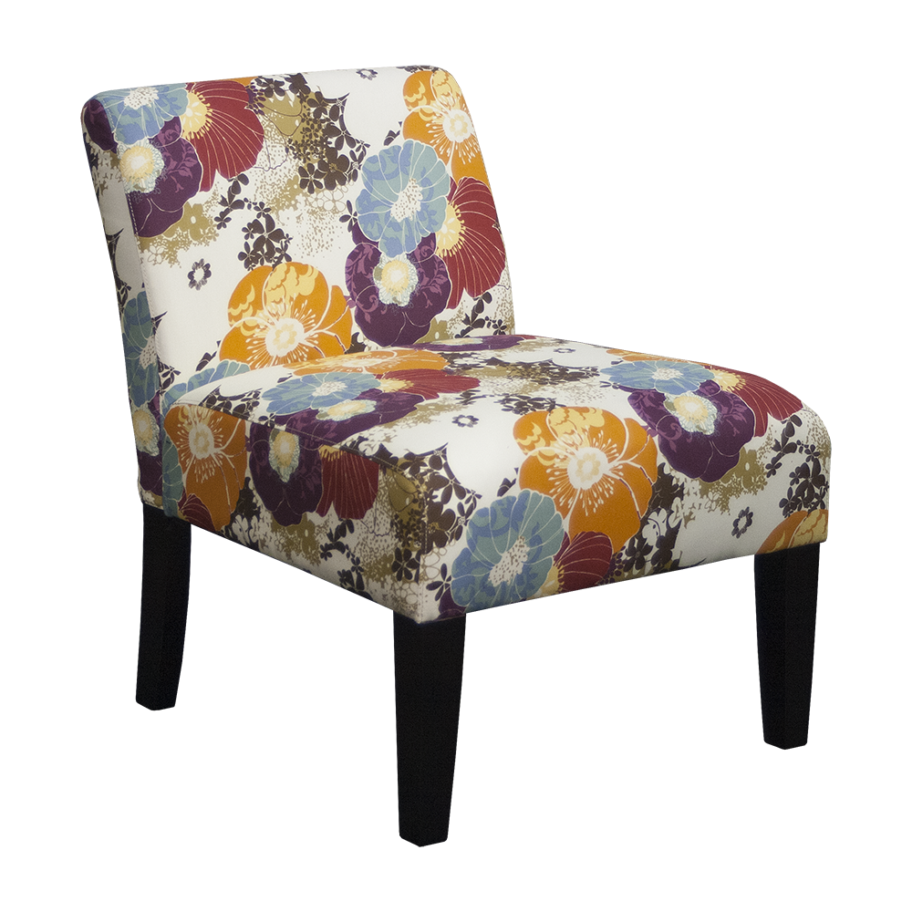 Our elegant armless slipper accent chair will add color to any room you place it in. #furniture #shopping #furnitureshopping #ecom #freeshipping #accentchair #chair