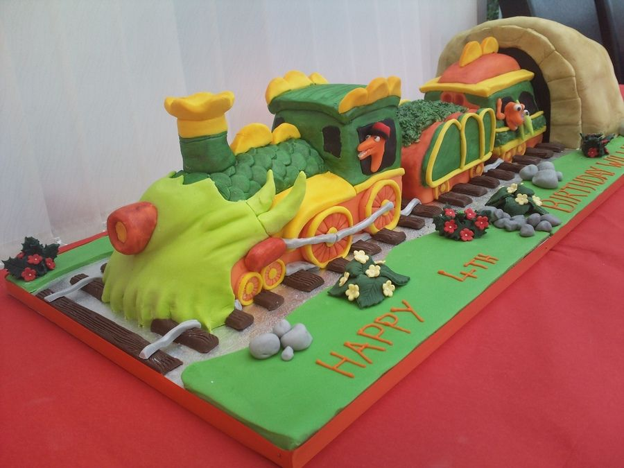 Surprising Dinosaur Train Cake With Images Dinosaur Train Cakes Train Birthday Cards Printable Benkemecafe Filternl