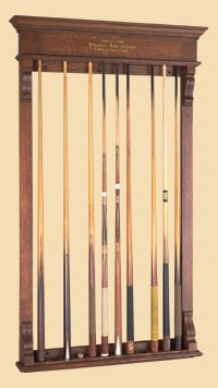 Antique Brunswick Pool Cue Rack From