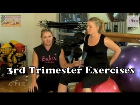 3rd Trimester Exercises, for Pregnant mothers - YouTube