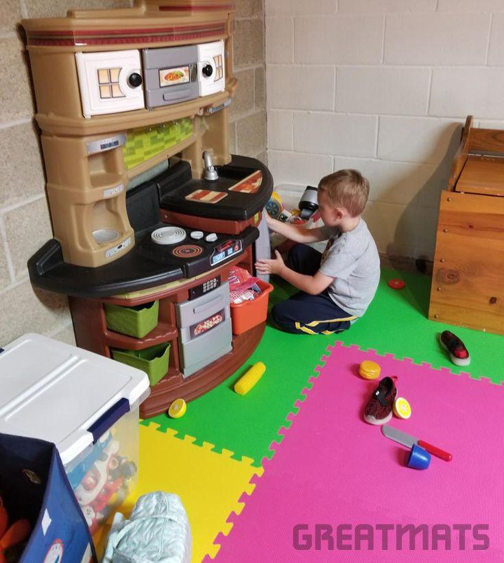 Foam Kids And Gym Mats 5 8 Premium Playroom Flooring Playroom