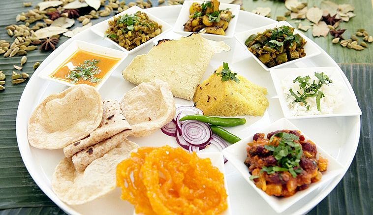 Gujarati Thali Is Basically A Concept With The Objective To Present That Real And Traditional Taste Of Food Very Nice Idea