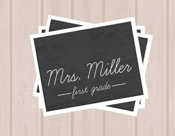 Customized Chalkboard Teacher Note Card by MadelineLewisDesigns, $20.00