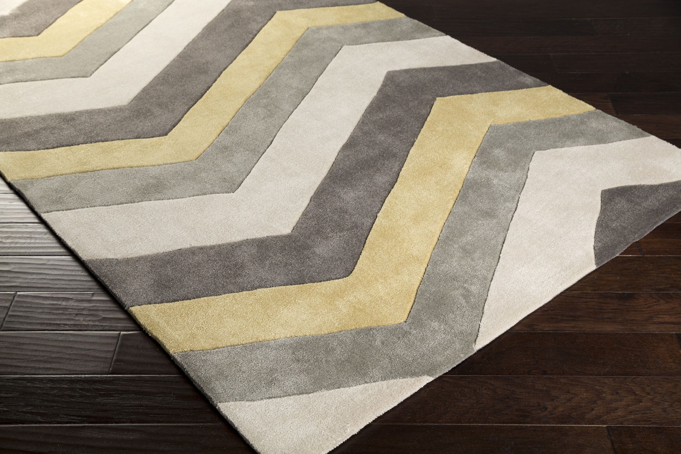 Cosmo Chevron Area Rug In Lime And Gray Color Pantone Tpx Ash Gray 13 0000 Gray 17 0205 Lime 14 1025 Gray 17 150 Chevron Area Rugs Area Rugs Rugs