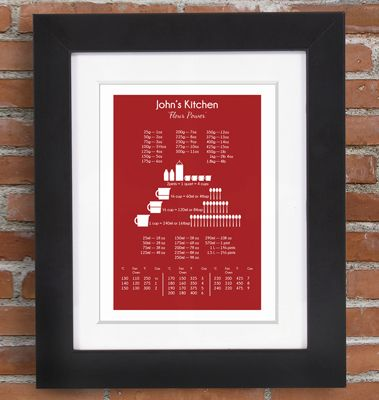 Personalised Conversion Chart from photofairytales.co.uk! Check out some more great gifts for men this Christmas here: http://bit.ly/1MFsRBG