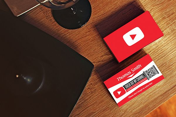 Free Youtube Business Card Template On Behance More At