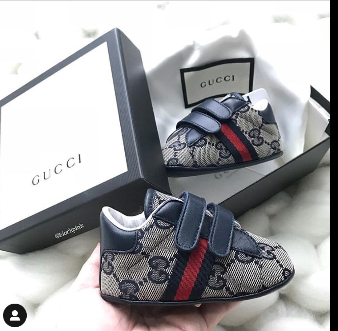 GUCCI BABY SHOES | Baby boy sneakers, Baby shoes newborn ...