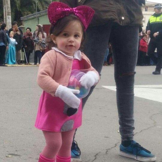 katia en el desfile de carnaval  #maquinadeboñas
