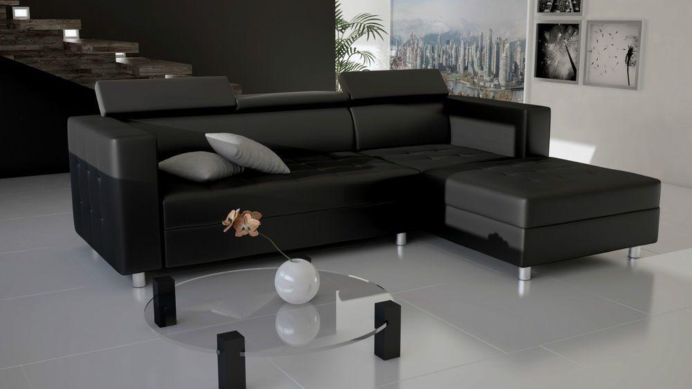 Couch Garnitur Ecksofa Sofagarnitur Sofa TOKIO Wohnlandschaft Schlaffunktion