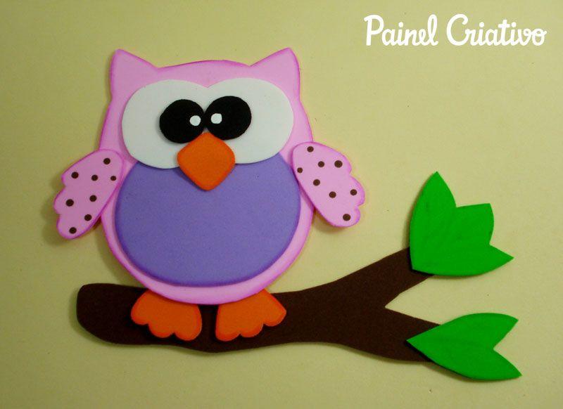 Artesanal Em Ingles ~ como fazer corujinha em eva artesanato decorar sala de aula cartazes paineis escola quarto festa