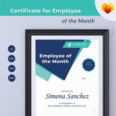 Employee Of The Month Certificate Template Free Employee Of The Month Certificate Template  Certificate And Template