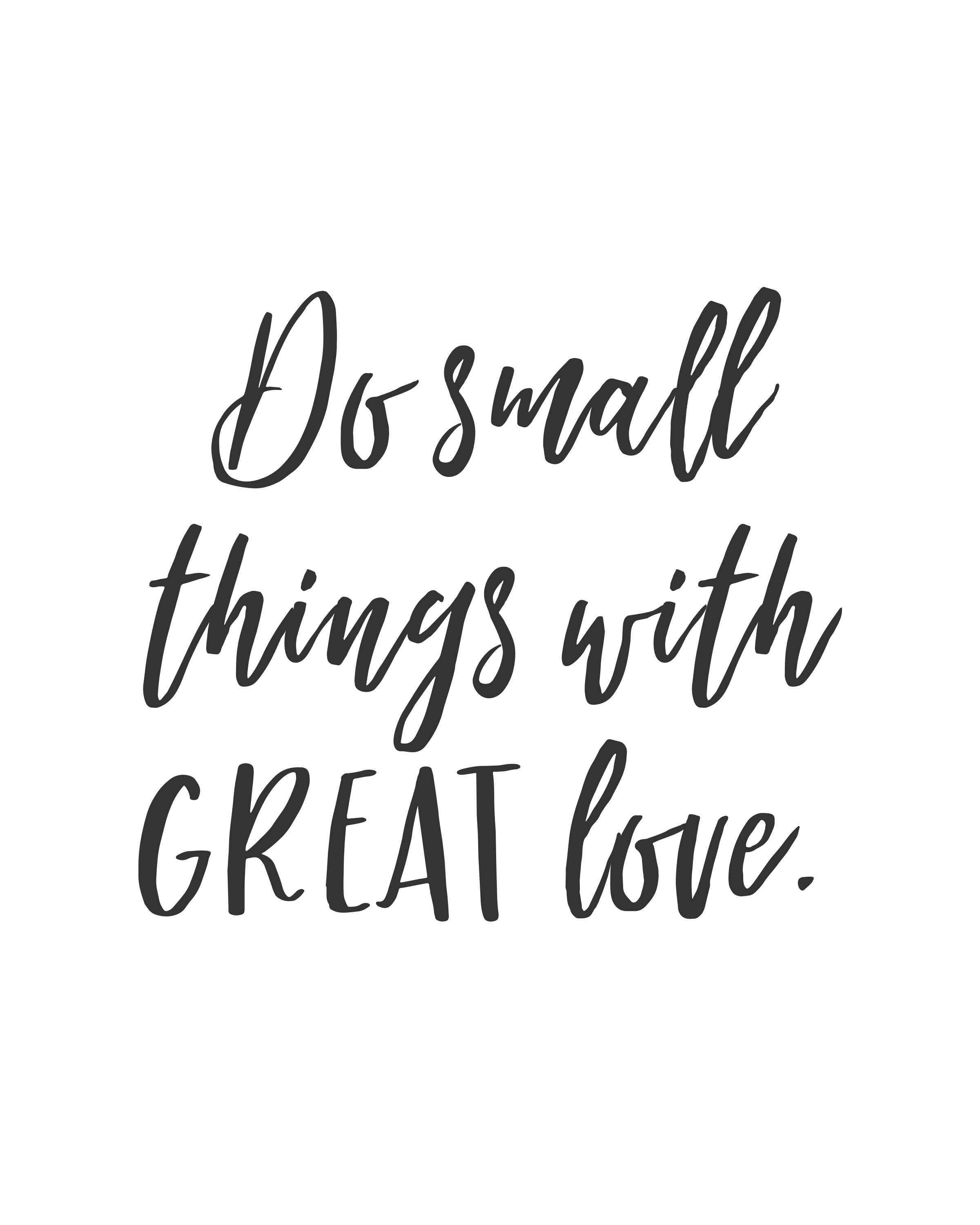 Do Small Things With Great Love Inspirational Poster Compassion Quotes Inspirational Quotes Posters Small Quotes